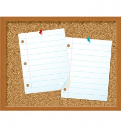 corkboard and papers vector image
