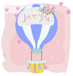 cute balloon in the sky vector image