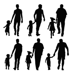 dad and kid vector image