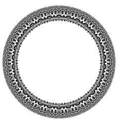 Damask Pattern Round Ornament vector