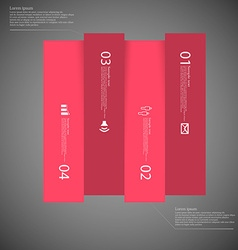 Dark square template infographic vertically vector