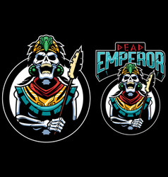 Dead emperor mascot vector