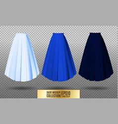 Different model skirt on vector
