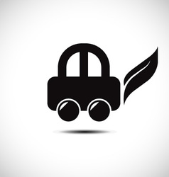 Eco friendly car icon vector