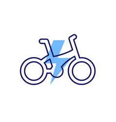 Electric bike e-bike icon line design vector