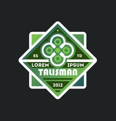 Elegant talisman template vintage label vector