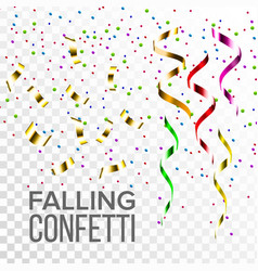 falling confetti set event elements vector image
