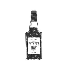 fathers day label design rum bottle with sign vector image