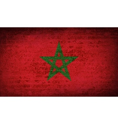 Flags Morocco with dirty paper texture vector image