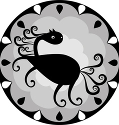 Funny Chinese horoscope horse vector