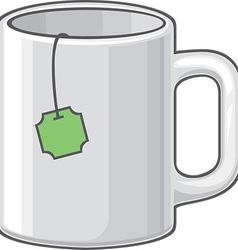Green Tea in a Mug Icon vector