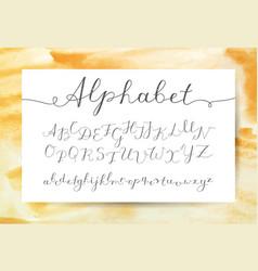 Handwritten lettering alphabet vector