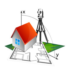 House project and geodesy vector