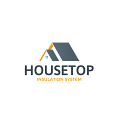 house roof logotypeminimalistic logo for building vector image