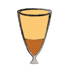 iced coffee vector image