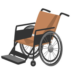 Invalid carriage wheelchair for disabled people vector