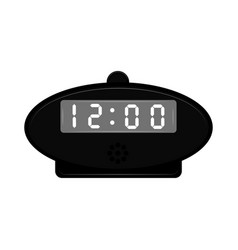isolated digital alarm clock icon vector image