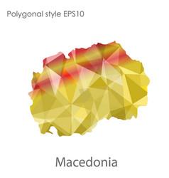 Isolated icon macedonia map polygonal vector