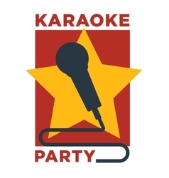 Karaoke club and bar label or logotype vector