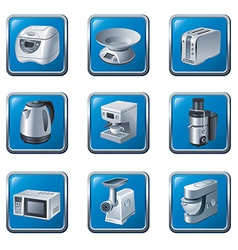 Kitchen appliances buttons vector