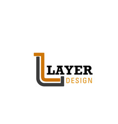 l letter icon for design studio vector image