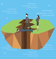 Leadership bridge business success concept as a vector