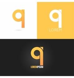 letter Q logo design icon set background vector image