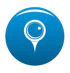 Locate pin icon blue vector