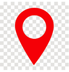 Location pin icon on transparent location pin vector