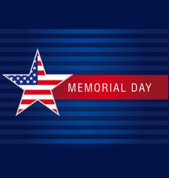 Memorial day usa banner vector