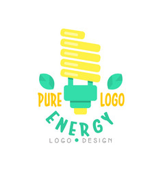 modern electric light bulb and text for pure vector image
