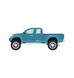 Modern pickup truck isolated vector