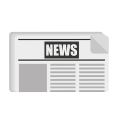newspaper isolated icon design vector image