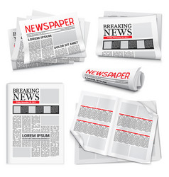 Newspaper realistic set vector