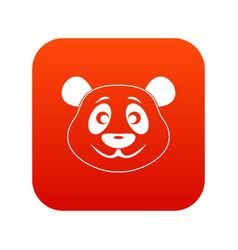 Panda icon digital red vector