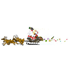 party christmas cartoon drunk driving vector image