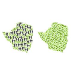 People and plantation zimbabwe map vector