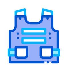 Police body safe armor icon outline vector