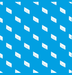 postal letter pattern seamless blue vector image