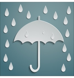 RAIN UMBRELLA vector image