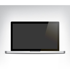 realistic opened laptop personal computer vector image
