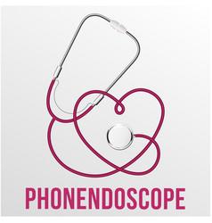 realistic phonendoscope isolated medicine vector image