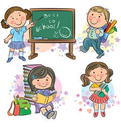 Schoolchildren vector