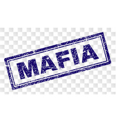 Scratched mafia rectangle stamp vector