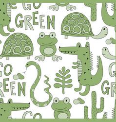 Seamless go green pattern vector