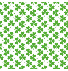 seamless patten with clover vector image