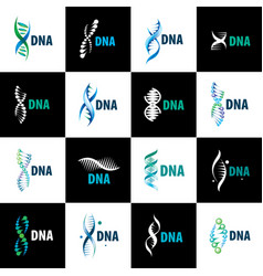 sign in the shape of a spiral dna vector image