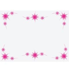 Simple pink floral frame vector image