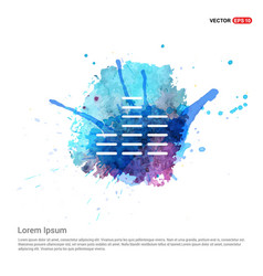 Sound beats icon - watercolor background vector