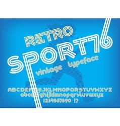 Sport 76 font vector image